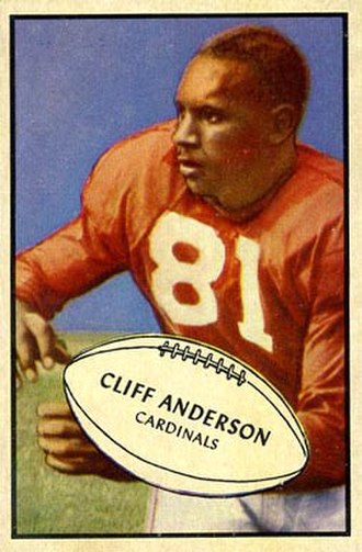 Cliff Anderson (American football) - Anderson on a 1953 Bowman football card