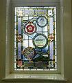 Clitheroe Library, Millenium window AD1000.JPG