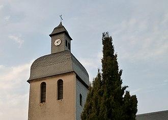 Argelos, Pyrénées-Atlantiques - The bell tower of the Church of Saint-André