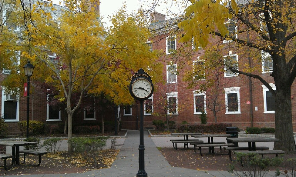 Clock on the campus of Rutgers University (2012)