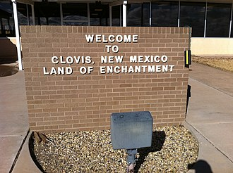 Clovis, New Mexico - Sign at Clovis airport