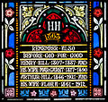 Cloyne St. Colman's Cathedral South Aisle W10 Henry and Margaret Hill, Arthur and Flora Hill 2015 08 27.jpg