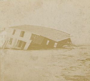 1896 East Coast hurricane - The Cobb's Island Hotel destroyed by the storm in the Virginia Barrier Islands