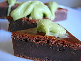cocoa–avocado brownies