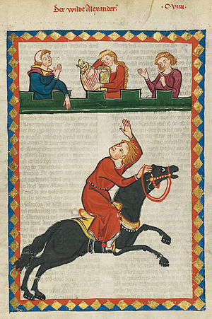 Der wilde Alexander - Meister Alexander in the Codex Manesse.