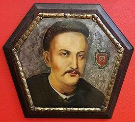 Portret trumienny mężczyzny herbu Tępa Podkowa