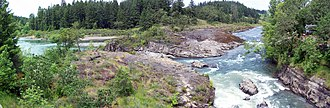 Glide, Oregon - Panorama of the Colliding Rivers.