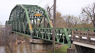 National Register of Historic Places listings in Wharton County, Texas - Image: Colorado River Bridge Wharton Texas