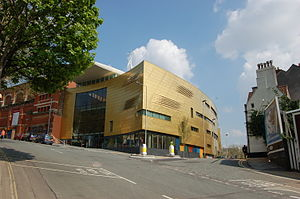 Photograph of the new foyer at Colston Hall, B...