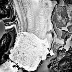 Columbia Glacier, Calving Terminus, Terentiev Lake, June 26, 1989 (GLACIERS 1443).jpg