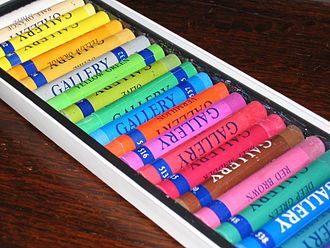 Pastel (color) - Pastel sticks in a variety of colors