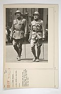 Commission - From Foreign Nations - Belgium - Soldiers - Commander Rose and Adjt. Major Vander Donckt, of the Belgian Army, in the Belgian soldiers' parade, New York City, May 1918 - NARA - 26431750.jpg