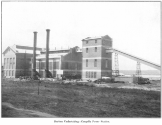 Eskom - The Congella Power Station completed in 1928 was one of the first power plants built and owned by Eskom.