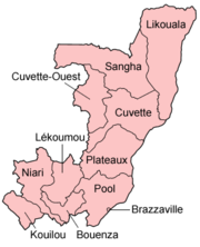 Regions of the Republic of the Congo