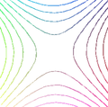 Contour lines around a saddle point.png