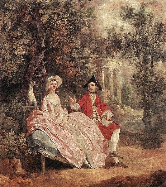 ゲインズバラ「庭園での会話」