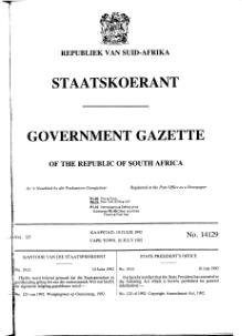 Copyright Amendment Act 1992 from Government Gazette.djvu