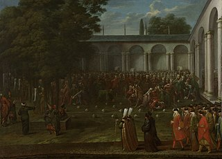 Cornelis Calkoen on his Way to his Audience with Sultan Ahmed III