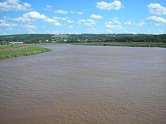 Cornwallis River - Cornwallis River near high tide.