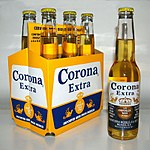 A six pack of Corona Extra
