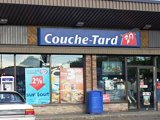 Alimentation Couche-Tard - Entrance of a Couche-Tard store in Montreal, Quebec