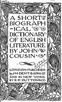 Cousins's Short Biographical Dictionary of English Literature.djvu