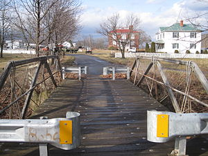 National Register of Historic Places listings in Highland County, Virginia - Image: Crab Run Lane Truss Bridge