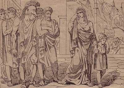 Cratisiclias' departure from Sparta Bartolomeo Pinelli