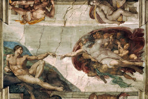 English: The Creation of Adam is a fresco pain...