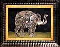 Credenza italiana del xvi secolo e stipo con intarsi in pietre dure delle botteghe medicee granducali, 1620 ca. 03 elefante.jpg
