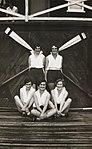 Crew of YWCA four outside Gardner's boatshed, Sydney (7173947228).jpg