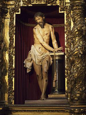 Christ at the Column (Gregorio Fernández) - Image: Cristo atado a la columna 20131225
