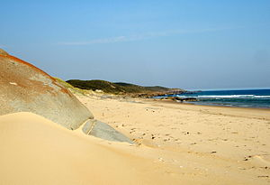 Croajingolong National Park - A beach in the Croajingolong National Park; looking north towards Rame Head.