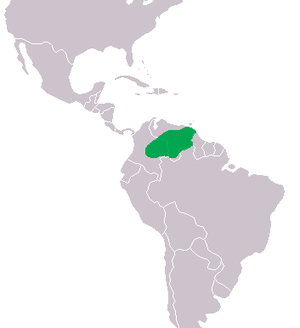 Orinoco crocodile - Image: Crocodylus intermedius Distribution
