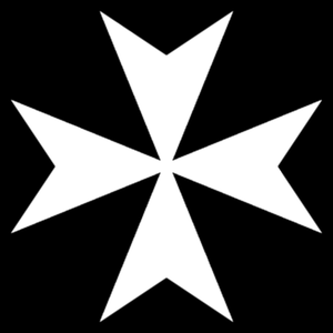 Knights Templar (Freemasonry) - The Maltese Cross, symbol of the Order of Malta.