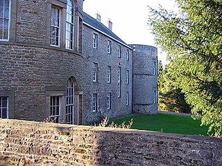 Croxdale Hall mansion situated at Croxdale, County Durham, England