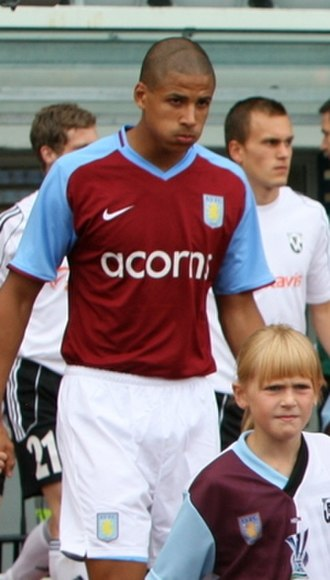 Curtis Davies - Davies before an Aston Villa match in 2008