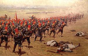 Η Μάχη του Δομοκού όπως αποδόθηκε από τον Φαούστο Τζονάρο