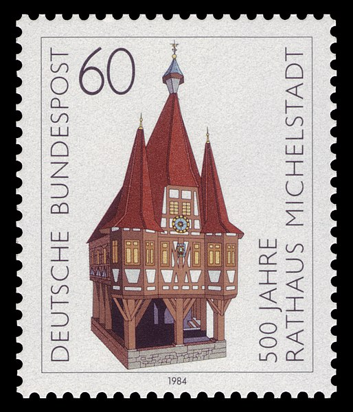 Datei:DBP 1984 1200 Rathaus Michelstadt.jpg