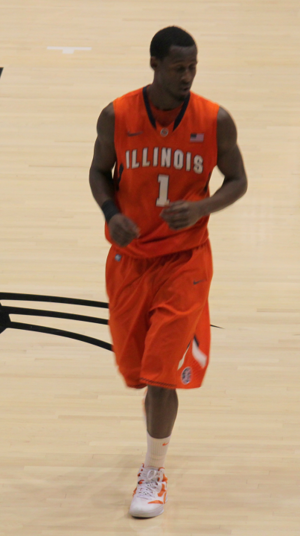 D. J. Richardson - Richardson playing for Illinois in January, 2012.