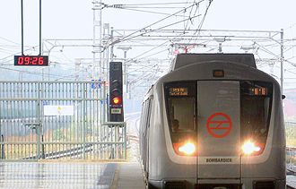 Bombardier Transportation - Delhi Metro broad gauge train, manufactured by Bombardier.