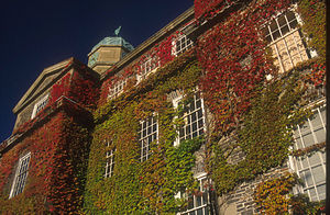 South End, Halifax - The vine-covered Henry Hicks building at Dalhousie University