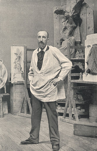 Jules Dalou - Jules Dalou in his studio, 1899