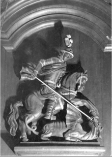 st george and the dragon contract [citation needed] several sculptures of saint george battling the dragon can be found in stockholm, the earliest inside storkyrkan (the great church) eastern traditions distinguish the two as saint george rides a white horse and st demetrius a red horse.