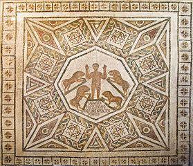mosaïque de Daniel dans la fosse aux lions