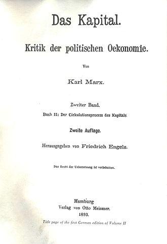 Capital, Volume II - Das Kapital, Volume II