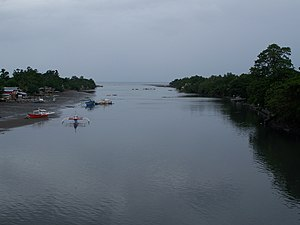 Davao City - Mouth of the Davao River in Talomo District