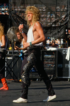 Days of Thunder - Coverdale performing with Whitesnake in 1987.