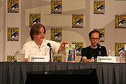 David X. Cohen with Matt Groening at the Futurama panel of Comic-Con 2007.