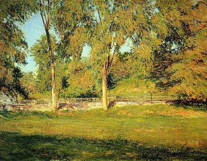 "Boston School (painting) - ""September Afternoon"" by Joseph DeCamp, 1895"